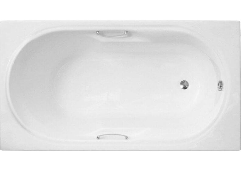 Ванна акриловая прямоугольная 140 x 75 см LUX с ручками