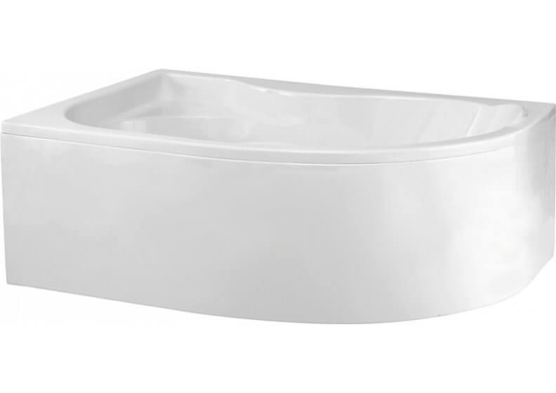 Ванна акриловая угловая асимметричная  170 x 110 см универсальная DORA