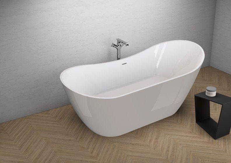 Отдельностоящая ванна ABI ВПЕЧАТЛЯЮЩИЙ СЕРЫЙ 180 x 80 см