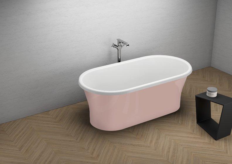 Отдельностоящая ванна AMONA NEW СЛАДКИЙ РОЗОВЫЙ 150 x 75 cm