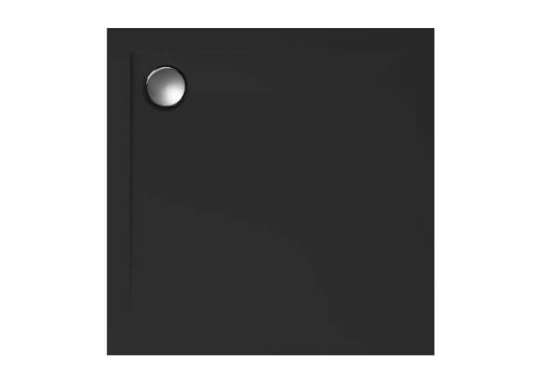 Поддон квадратный низкий GEOS черный, структура