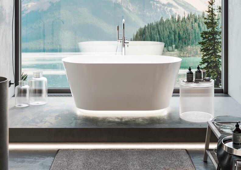 Отдельностоящая ванна IDA MINERAL COMPOSITE 150 x 75 см