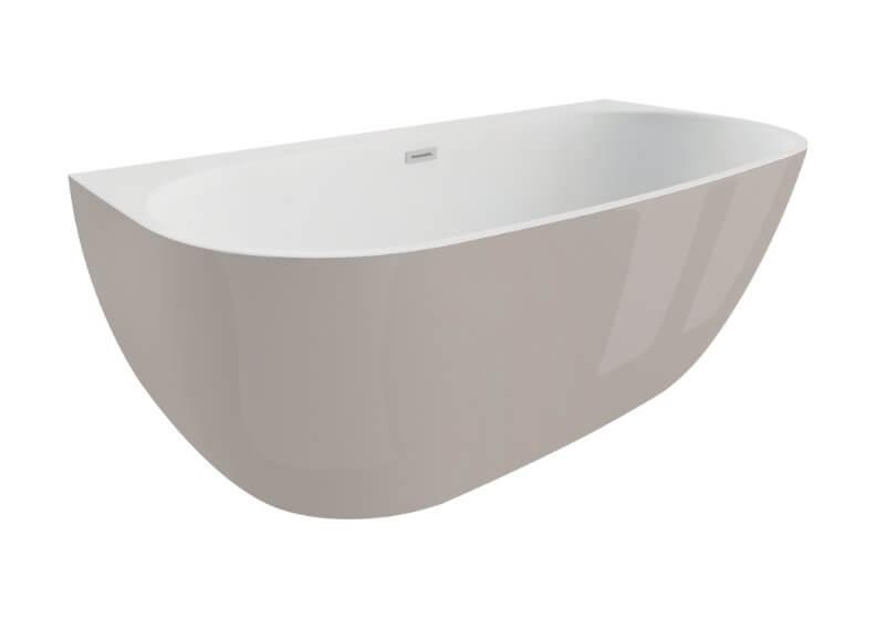 Отдельностоящая ванна RISA ВПЕЧАТЛЯЮЩИЙ СЕРЫЙ 170 x 80 см