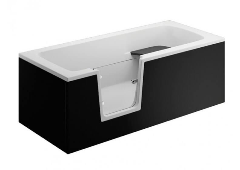 Панель для ванны VOVO - передняя панель 170 см черная