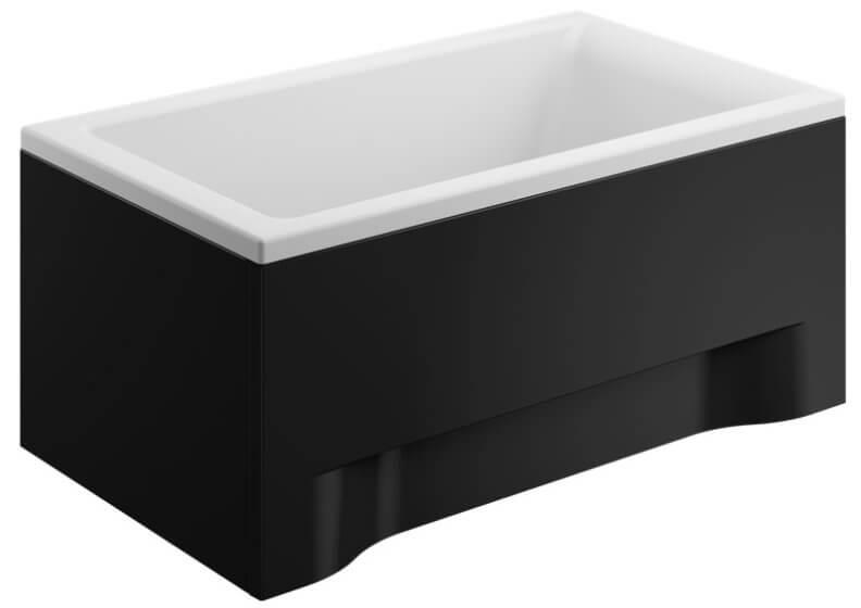 Панель акриловая для прямоугольной ванны - передняя панель 120 см CAPRI ЧЕРНАЯ