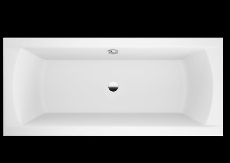 Ванна акриловая прямоугольная 170 x 75 см INES