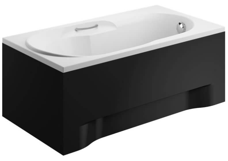 Панель акриловая для прямоугольной ванны - боковая панель 75 см выс. 51 см ЧЕРНАЯ