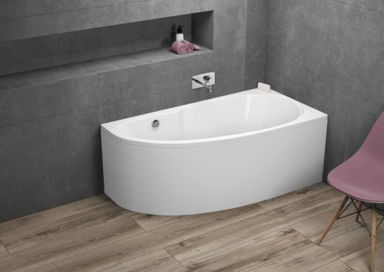 Ванна акриловая асимметричная MIKI