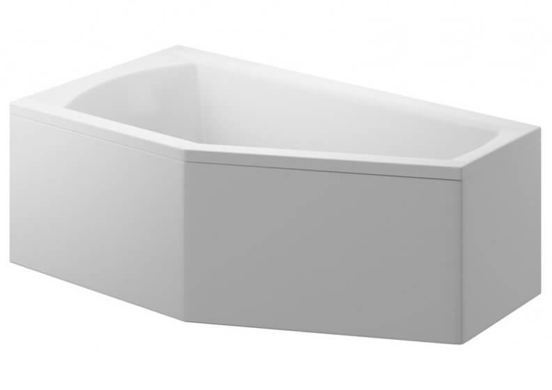 Панель акриловая для асимметричной ванны 160 x 90 см универсальная SELENA
