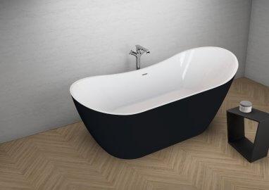Отдельностоящая ванна ABI ЧЕРНАЯ МАТ 180 x 80 см