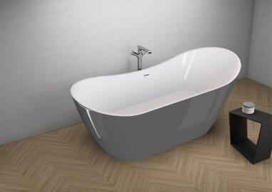 Отдельностоящая ванна ABI СТИЛЬНЫЙ ГРАФИТ 180 x 80 см