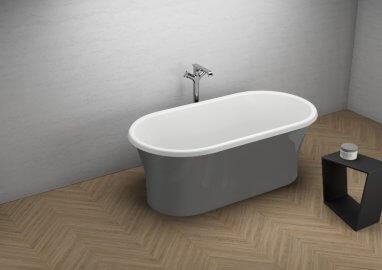 Отдельностоящая ванна AMONA NEW СТИЛЬНЫЙ ГРАФИТ 150 x 75 cm