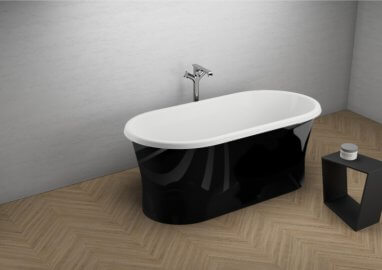 Отдельностоящая ванна AMONA NEW ЧЕРНАЯ БЛЕСК 150 x 75 см