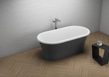 Отдельностоящая ванна AMONA NEW ЧЕРНАЯ МАТ 150 x 75 см