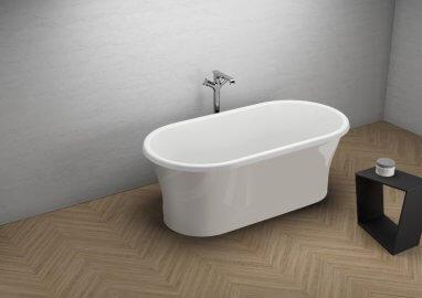 Отдельностоящая ванна AMONA NEW ВПЕЧАТЛЯЮЩИЙ СЕРЫЙ 150 x 75 см