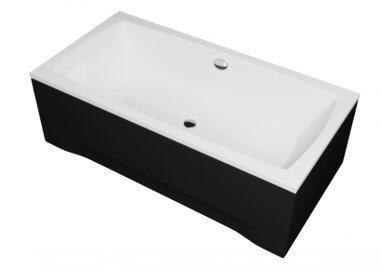 Панель акриловая для прямоугольной ванны - передняя панель 140 см выс. 42 см ЧЕРНАЯ