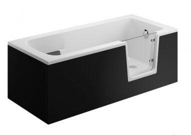 Панель для ванны AVO - передняя панель 170 см черная