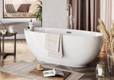 Отдельностоящая ванна KIVI БЕЛАЯ 165 x 75 см