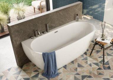 Отдельностоящая ванна RISA БЕЛАЯ 170 x 80 см