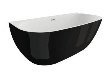 Отдельностоящая ванна RISA ЧЕРНАЯ БЛЕСК 170 x 80 см