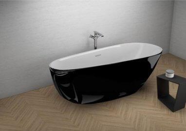 Отдельностоящая ванна SHILA ЧЕРНАЯ БЛЕСК 170 x 85 см