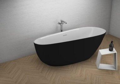 Отдельностоящая ванна SHILA ЧЕРНАЯ МАТ 170 x 85 см