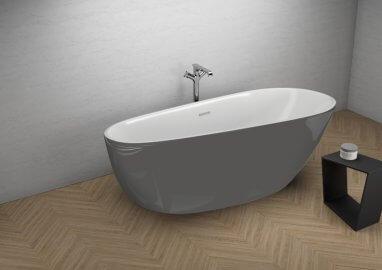 Отдельностоящая ванна SHILA СТИЛЬНЫЙ ГРАФИТ 170 x 85 см