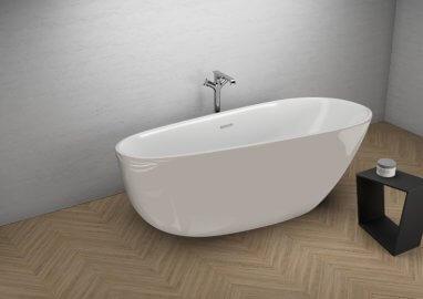 Отдельностоящая ванна SHILA ВПЕЧАТЛЯЮЩИЙ СЕРЫЙ 170 x 85 см