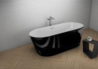 Отдельностоящая ванна UZO ЧЕРНАЯ БЛЕСК 160 x 80 см