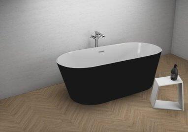 Отдельностоящая ванна UZO ЧЕРНАЯ МАТ 160 x 80 см