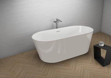 Отдельностоящая ванна UZO ВПЕЧАТЛЯЮЩИЙ СЕРЫЙ 160 x 80 см
