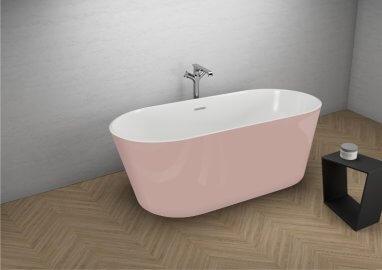 Отдельностоящая ванна UZO СЛАДКИЙ РОЗОВЫЙ 160 x 80 см