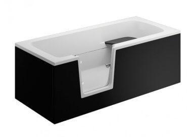 Панель для ванны VOVO - передняя панель 150 см черная