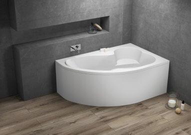 Ванна акриловая асимметричная MEGA
