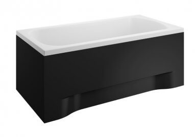 Панель акриловая для прямоугольной ванны - передняя панель 130 см выс. 51 см ЧЕРНАЯ