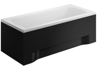 Панель акриловая для прямоугольной ванны - боковая панель 80 см выс. 58 см ЧЕРНАЯ