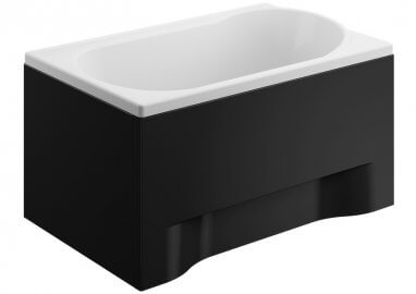 Панель акриловая для прямоугольной ванны - боковая панель 70 см выс. 51 см ЧЕРНАЯ