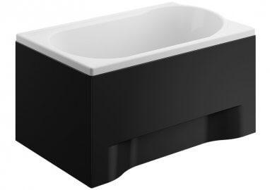 Панель акриловая для прямоугольной ванны - передняя панель 110 см выс. 51 см ЧЕРНАЯ