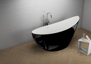 Отдельностоящая ванна ZOE ЧЕРНАЯ БЛЕСК 180 x 80 см