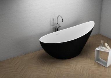 Отдельностоящая ванна ZOE ЧЕРНАЯ МАТ 180 x 80 см