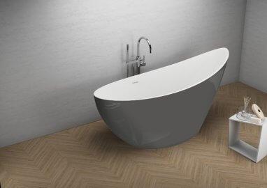 Отдельностоящая ванна ZOE СТИЛЬНЫЙ ГРАФИТ 180 x 80 см