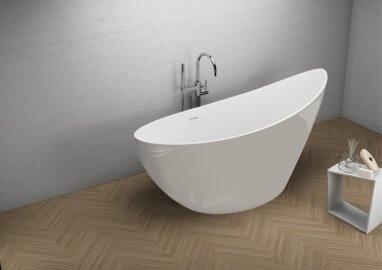 Отдельностоящая ванна ZOE ВПЕЧАТЛЯЮЩИЙ СЕРЫЙ 180 x 80 см