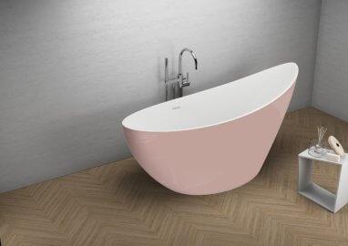 Отдельностоящая ванна ZOE СЛАДКИЙ РОЗОВЫЙ 180 x 80 см