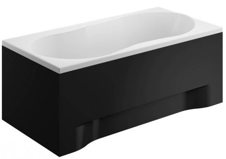 Панель акриловая для прямоугольной ванны - передняя панель 170 см выс. 52 см ЧЕРНАЯ
