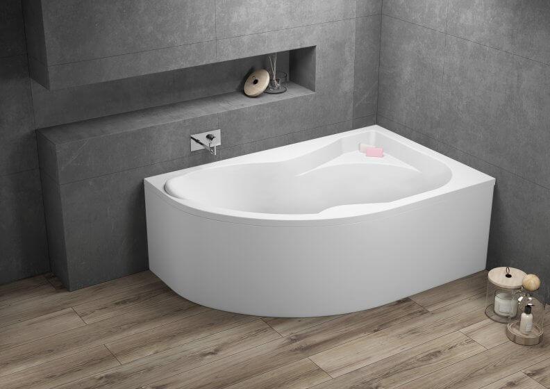 Ванна акриловая асимметричная DORA