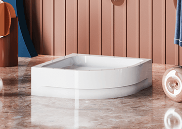 Half-round shower trays