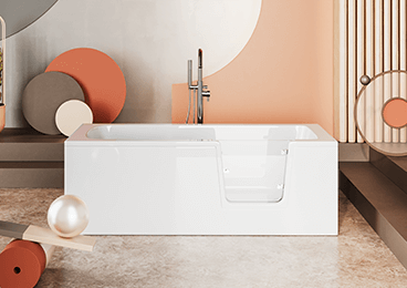 Bathtubs with doors